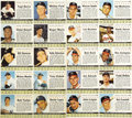 Baseball Cards:Lots, 1961 Post Cereal Baseball Panels Collection (15). Two hundreddifferent players are included in this set, but with variation...