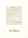 Autographs:U.S. Presidents, Eleanor Roosevelt: Typed Letter Signed and Mounted With a ClippedFranklin D. Roosevelt Signature....