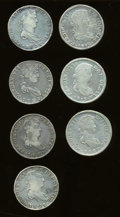 Mexico, Mexico: Group Lot of Ferdinand VII 8 Reales from the ZacatecasMint,... (Total: 7 coins)