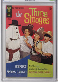 Three Stooges #41 - File Copy (Gold Key, 1968) CGC NM 9.4 Off-white to white pages