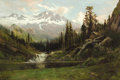 Fine Art - Painting, American:Antique  (Pre 1900), WILLIAM KEITH (American, 1839-1911). View of Mount Shasta, 1891. Oil on canvas. 23 x 32 inches (58.4 x 81.3 cm). Signed ...