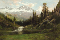 WILLIAM KEITH (American, 1839-1911) View of Mount Shasta, 1891 Oil on canvas 23 x 32 inches (58.4