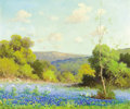 Paintings, ROBERT WOOD (American, 1889-1979). Texas Bluebonnets. Oil on canvas. 20-1/4 x 24 inches (51.4 x 61.0 cm). Signed lower l...