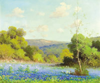 ROBERT WOOD (American, 1889-1979) Texas Bluebonnets Oil on canvas 20-1/4 x 24 inches (51.4 x 61.0