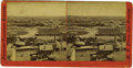 "Western Expansion:Cowboy, Very Early Birdseye Stereoview ""Los Angeles' California ca 1870's -..."