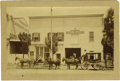Western Expansion:Goldrush, Imperial Size Photograph- Street Scene with Stagecoach, ca. 1880s....