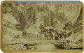 Western Expansion:Cowboy, Imperial Size Photograph of Boulder Canyon, Colorado Stagecoach,ca. 1880s....