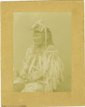 Western Expansion:Indian Artifacts, Large Format Photograph of an Umtilla Indian, ca. 1880s. ...