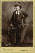 "Western Expansion:Cowboy, Cabinet Card Photograph of ""Gentleman Cowboy,"" ca. 1890s. ..."