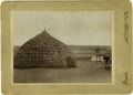 Western Expansion:Indian Artifacts, Cabinet Card Photograph Indian Wickiup, Chickasha, Indian Territory, ca. 1890s. ...