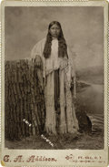 Western Expansion:Indian Artifacts, Cabinet Card Photograph Kiawah Indian Princess Ft. Sill, OklahomaTerritory....
