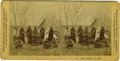 Western Expansion:Indian Artifacts, Stereoview Photograph of Armed Sioux Scouts in Camp by F. Jay Haynes, ca, 1880s....