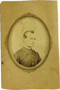 Military & Patriotic:Indian Wars, CDV Photograph of James Dyer, Killed by Indians at Indian Look Out, ca. 1869....