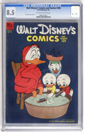 Golden Age (1938-1955):Cartoon Character, Walt Disney's Comics and Stories #160 (Dell, 1954) CGC VF+ 8.5Off-white to white pages....