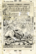 Original Comic Art:Covers, John Buscema, John Romita Sr., and John Verpoorten - Fantastic Four#118 Cover Original Art (Marvel, 1972)....