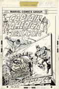 Original Comic Art:Covers, John Romita Sr., Ron Wilson, and Frank Giacoia - Captain America#178 Cover Original Art (Marvel, 1974)....