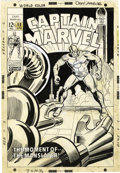 Original Comic Art:Covers, John Romita Sr. (attributed) - Captain Marvel #12 Cover OriginalArt (Marvel, 1969)....