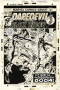 Original Comic Art:Covers, George Tuska and Ernie Chan - Daredevil #98 Cover Original Art(Marvel, 1973)....