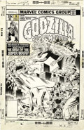 Original Comic Art:Covers, Herb Trimpe and Dan Green - Godzilla #14 Cover Original Art(Marvel, 1978)....
