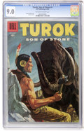 Silver Age (1956-1969):Adventure, Turok #4 (Dell, 1956) CGC VF/NM 9.0 Off-white to white pages....
