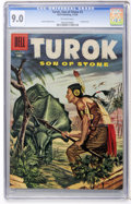 Silver Age (1956-1969):Adventure, Turok #3 (Dell, 1956) CGC VF/NM 9.0 Off-white pages....