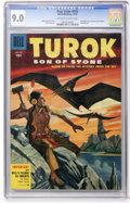 Golden Age (1938-1955):Miscellaneous, Four Color #656 Turok, Son of Stone (Dell, 1955) CGC VF/NM 9.0 Off-white to white pages....