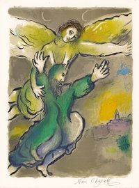 MARC CHAGALL (Belorussian, 1887-1985) And Moses Beheld All the Work and Behold, and They Had Done It as the Lor