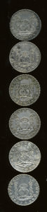 Mexico, Mexico: Group lot of Pillar 8 Reales 1740's as follows:... (Total:6 coins)