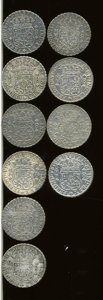 Mexico, Mexico: Group lot of Ferdinand VI Pillar 8 Reales 1750's,...(Total: 10 coins)