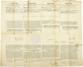 Autographs:U.S. Presidents, John Tyler and Daniel Webster Whaling Document Signed ...