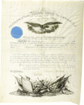 Autographs:U.S. Presidents, Andrew Johnson Military Appointment Signed as President....