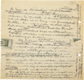 Autographs:Celebrities, Albert Einstein Historically Important Handwritten Speech (Unsigned). ...