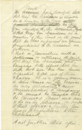 Autographs:Military Figures, George Armstrong Custer Rare Autograph Manuscript Signed ...