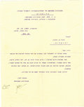 Autographs:Non-American, David Ben-Gurion Typed Letter Signed, co-signed by Eliezer Kaplan....