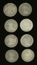 Mexico, Mexico: Group lot of Carlos IIII 8 Reales,... (Total: 8 coins)