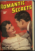 Golden Age (1938-1955):Romance, Romantic Secrets #1 and 2/Romantic Story #1 Bound Volume (Fawcett,1949)....
