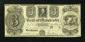 Obsoletes By State:Michigan, Manchester, MI- The Bank of Manchester $3 Nov. 20, 1837 . ...