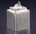 Silver Holloware, British:Holloware, A GEORGE III SILVER TEA CADDY. Michael Plummer, London, England,1795-1796. Marks: (lion passant), (leopard's head crowned),...