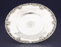 Silver Holloware, American:Plates, AN AMERICAN SILVER PLATE. S. Kirk & Son, Baltimore, Maryland,circa 1932-1961. Marks: S. KIRK & SON, STERLING, 619, HANDD...