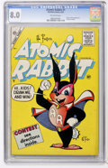 Golden Age (1938-1955):Funny Animal, Atomic Rabbit #1 (Charlton, 1955) CGC VF 8.0 Off-white pages....
