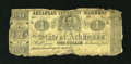 Obsoletes By State:Arkansas, (Little Rock), AR- State of Arkansas $1 Mar. 19, 1862 Criswell 32. ...