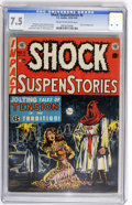 Golden Age (1938-1955):Horror, Shock SuspenStories #6 (EC, 1952) CGC VF- 7.5 Cream to off-whitepages....