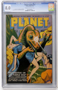 Golden Age (1938-1955):Science Fiction, Planet Comics #37 (Fiction House, 1945) CGC VF 8.0 Cream tooff-white pages....