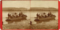 Western Expansion:Cowboy, Early Stereoview on Missouri River, Fort Benton, Montana Territory,ca. 1870s....