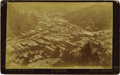 Western Expansion:Cowboy, Imperial Size Bird's Eye View Photograph of Deadwood, Dakota, ca. 1890s....