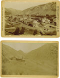 Western Expansion:Goldrush, Lot of Two Cabinet Card Photographs of Mining Town Idaho Springs,Colorado, ca. 1890s.... (Total: 2 Items)