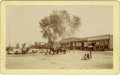 Western Expansion:Indian Artifacts, Imperial Size Photograph Indians Outside General Store Wild West,ca. 1890s....