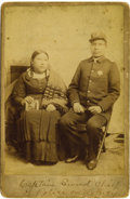 Western Expansion:Indian Artifacts, Cabinet Card Photograph Captain Sword Chief of Indian Police ca1890s. ...