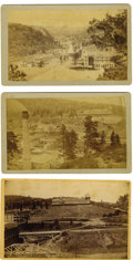 Western Expansion:Cowboy, Lot of Three Cabinet Card Photos of Montezuma Castle, Las Vegas,New Mexico Territory, ca. 1880s. ...