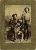 Western Expansion:Cowboy, Imperial Size Photograph of Two Armed Cowboys, ca. 1890s....